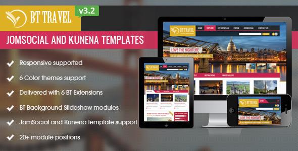 Nulled BT Travel v3 2 – Jomsocial and Kunena Template Download