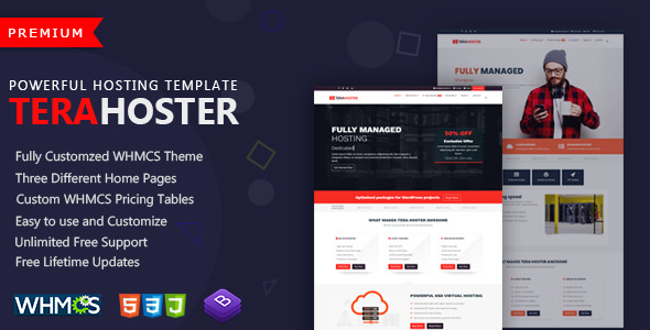 Nulled TeraHoster – Professional Hosting Template with WHMCS ...