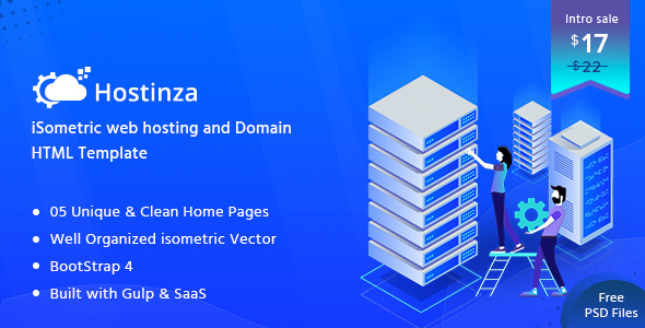Nulled Hostinza – Isometric Web Hosting, Domain and WHMCS