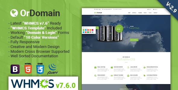 Nulled OrDomain v2 9 – Responsive HTML5 WHMCS Hosting Template