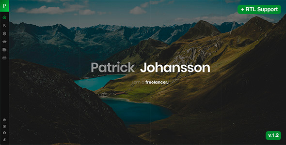nulled patrick v1 2  u2013 personal vcard    resume    cv template download