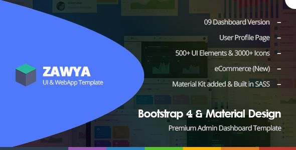 Nulled Zawya – Bootstrap 4 & Material Design Premium Admin