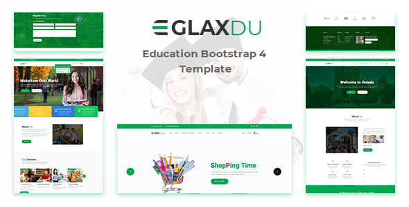 Nulled Glaxdu – Education Bootstrap 4 Template Download | ThemeTorrent